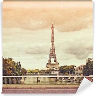 Papier peint autocollant Photo rétro avec Paris, France, cru