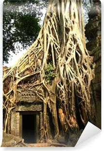Papier Peint Autocollant Racine de l'arbre à Angkor Wat