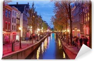 Papier Peint Autocollant Red Light District d'Amsterdam