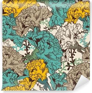Papier Peint Autocollant Seamless floral texture
