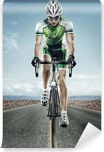 Papier Peint Autocollant Sport. Cycliste sur route.