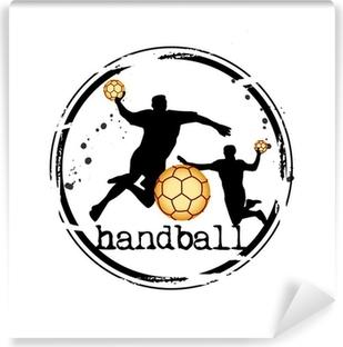 Papier peint autocollant Timbre handball