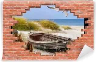 Papier Peint Autocollant Trou dans le mur - plage par la mer