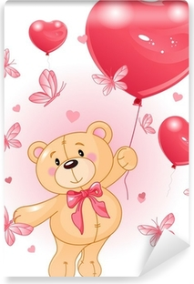 Papier peint autocollant Valentine Teddy
