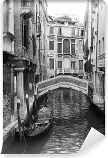 Papier Peint Autocollant Venise vue en noir et blanc