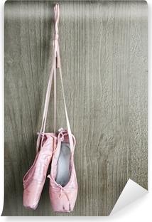 Papier peint autocollant Vieilles chaussures de ballet roses