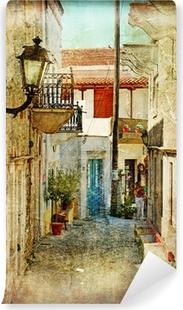 Papier Peint Autocollant Vieilles rues grecques et artistique image