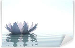 Papier Peint Autocollant Zen fleur loto dans l'eau