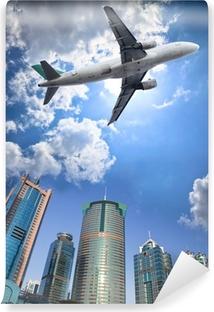 Papier peint vinyle Avion et de nuages