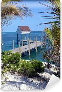 Papier peint vinyle Bahamas jetée idylliques