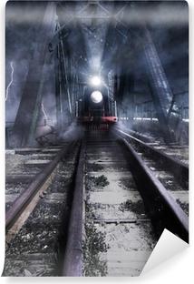 Papier peint vinyle Balades en petit train sur le pont