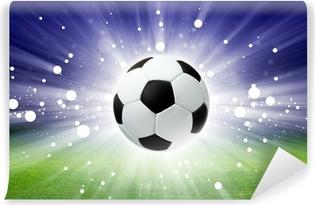 Papier peint vinyle Ballon de football, le stade, la lumière