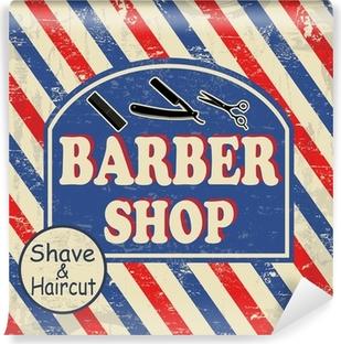 Papier peint vinyle Barbier affiche vintage