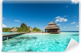 Papier peint vinyle Beach Villas sur la petite île tropicale