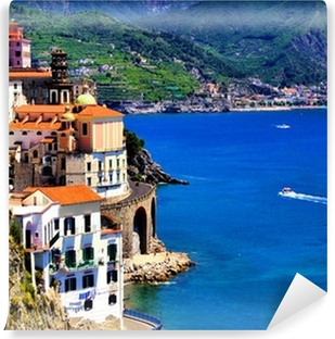 Papier peint vinyle Beau village de Atrani sur la côte amalfitaine, Italie