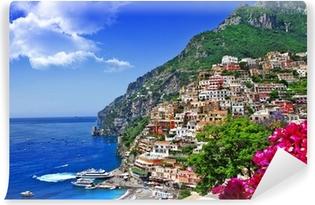 Papier peint vinyle Beaux paysages de la côte d'Amalfi de l'Italie, Positano.