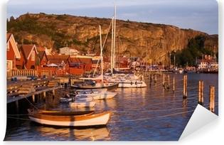 Papier peint vinyle Beutiful village par la côte ouest suédoise