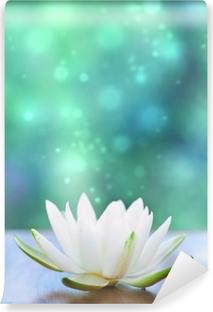 Papier peint vinyle Blanc eau fleur lilly