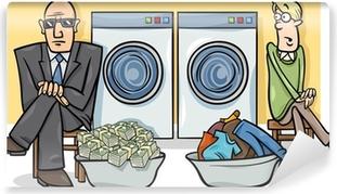 Papier peint vinyle Blanchiment d'argent illustration de bande dessinée