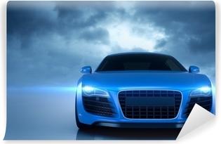 Papier peint vinyle Bleu voiture de sport