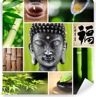 Papier Peint Bouddha Bambou Zen Pixers Nous Vivons Pour Changer
