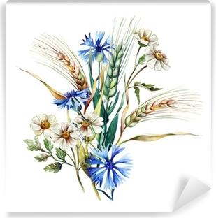 Papier peint vinyle Bouquet d'été