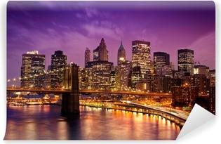 Papier Peint Vinyle Brooklyn Bridge surplombant Manhattan