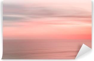 Papier peint vinyle Brouillé ciel coucher de soleil et l'océan