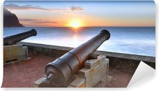 Papier peint vinyle Canons du barachois au coucher du soleil, Ile de la Réunion