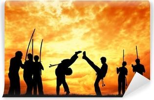 Papier peint vinyle Capoeira au coucher du soleil