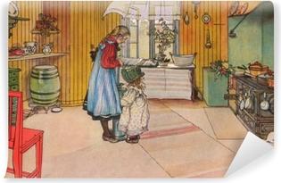 Papier peint vinyle Carl Larsson - La Cuisine