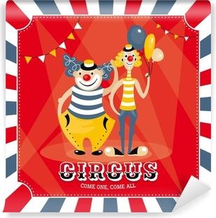 Papier peint vinyle Carte de vecteur avec des clowns