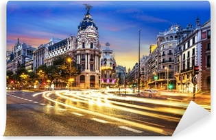 Papier peint vinyle Centre-ville de Madrid, Gran Vis Espagne
