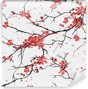 Papier peint vinyle Cerisier ou sakura seamless