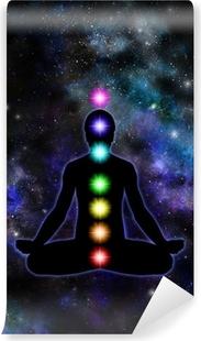 Papier peint vinyle Chakra Meditation sur fond de l'espace