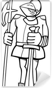 Coloriage Armure Chevalier.Poster Chevalier En Armure Coloriage De Dessin Anime Pixers