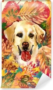 Papier peint vinyle Chien d'automne. illustration dessinée à la main
