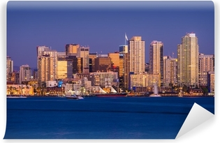 Papier peint vinyle Colorful San Diego Skyline