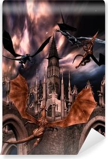 Papier peint vinyle Combattre des dragons