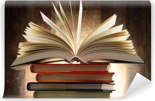 Papier peint vinyle Composition avec des livres à couverture rigide