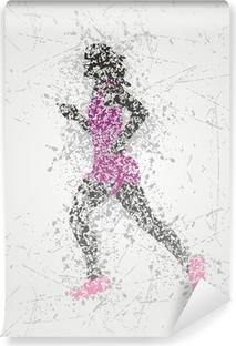Papier peint vinyle Conception de l'athlète