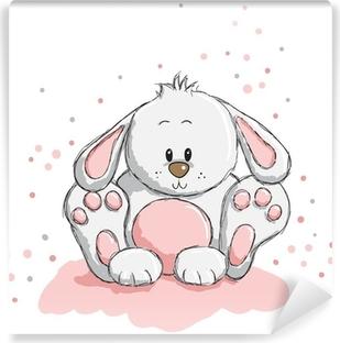 Papier peint vinyle Cute rabbit