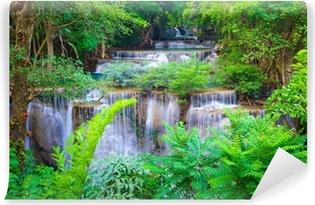 Papier peint vinyle Deep forest Waterfall à Kanchanaburi, Thaïlande