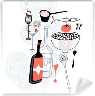 Papier peint vinyle Des boissons et des produits alimentaires
