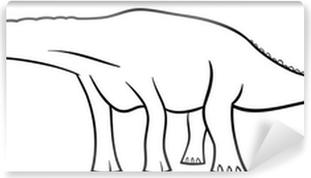 Sticker Pour Armoire Diplodocus De Dinosaure De Bande Dessinée Pour