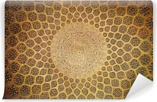 Papier peint vinyle Dôme de la mosquée, ornements orientaux de Isfahan, Iran
