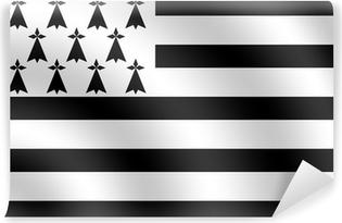 Papier peint vinyle Drapeau breton