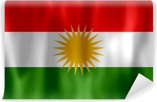 Papier peint vinyle Drapeau du Kurdistan