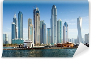 Papier peint vinyle Dubai Marina, Émirats Arabes Unis