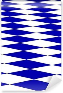 Papier peint vinyle Échiquier bleu
